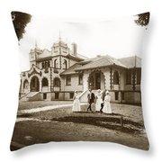 Hazel Hawkins Hospital Monterey Street Hollister California Circa 1907 Throw Pillow