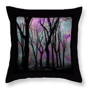 Hazy Purple Throw Pillow