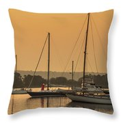 Hazy Tranquility Throw Pillow