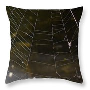 Hazy Web Throw Pillow