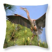 Hb In The Pines Throw Pillow