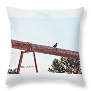 Hdr Dove On A Pipe Throw Pillow