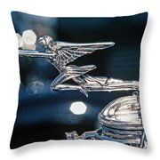 Hdr Hood Ornament Throw Pillow