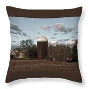 Hdr Image The Farmers Silo Throw Pillow