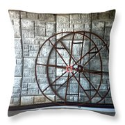 Hdr Industrial Cable Spindle Throw Pillow