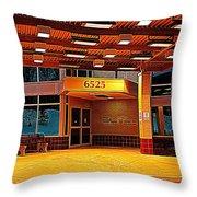 Hdr Medical Building Throw Pillow