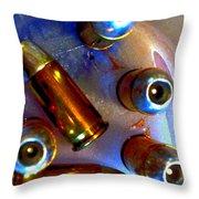Bullet Art - Hdr Photography Of .32 Caliber Hollow Point Bullets Art 4 Throw Pillow