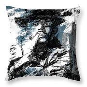 He Calls It Home - Blue Throw Pillow