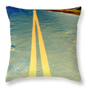 He Casts A Long Shadow Throw Pillow