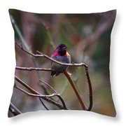 He Flashed Me With Fuchsia Throw Pillow