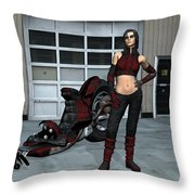 He Is Late Throw Pillow