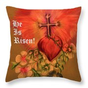 He Is Risen Greeting Card Throw Pillow