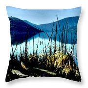 He Leads Me Beside Still Waters Throw Pillow