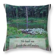 He Leads Me Beside The Still Waters Throw Pillow