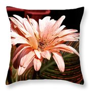 He Loves Me He Loves Me Not Throw Pillow by Valeria Donaldson