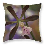 He Pua Ke Aloha - The Flower Of Love - Orchidea Tropicale Throw Pillow