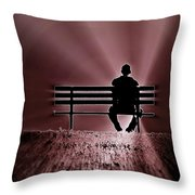 He Spoke Light Into The Darkness Throw Pillow