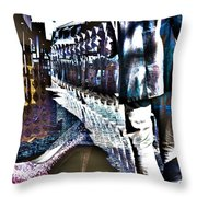 He Staggered Through The Streets Trying To Find His High Heel Boots Throw Pillow