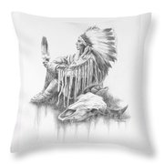 He Who Seeks A Vision Throw Pillow