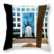 Head From Afar Throw Pillow by Randall Weidner