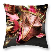 Head Of A Dragon At Leeds Carnival Throw Pillow