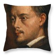 Head Of A Man Throw Pillow
