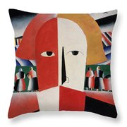 Head Of A Peasant Throw Pillow