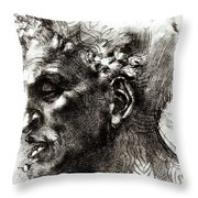 Head Of A Satyr  Throw Pillow