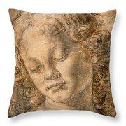 Head Of An Angel Throw Pillow