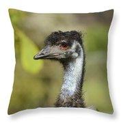 Head Of An Australian Emu Throw Pillow