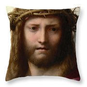 Head Of Christ Throw Pillow by Correggio