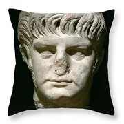 Head Of Nero Throw Pillow by Anonymous