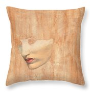 Head Of Proserpine Throw Pillow