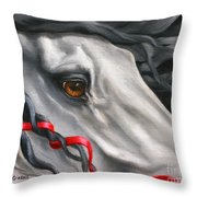 Head Study For The Gatekeeper  Throw Pillow