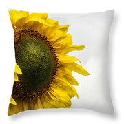 Head Up To The Rains - Sunflower Throw Pillow