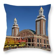 Headhouse Chicago Navy Pier Throw Pillow by Christine Till