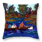 Heading For Rendezvous Throw Pillow