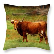 Heading For The Barn Throw Pillow