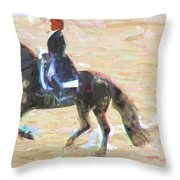 Heading Into The Ring Throw Pillow