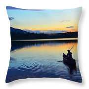 Heading Out At Sunset Throw Pillow