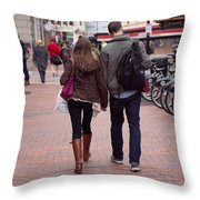Heading To The Station Throw Pillow