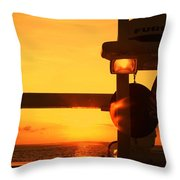 Heading Towards The Sun By Diana Sainz Throw Pillow