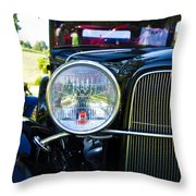 Headlight Of The Past 2 Throw Pillow