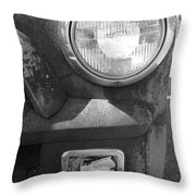 Headlight Of The Past Throw Pillow