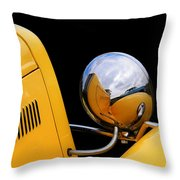 Headlight Reflections In A 32 Ford Deuce Coupe Throw Pillow