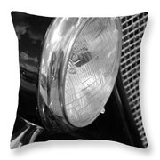 headlight205 BW Throw Pillow