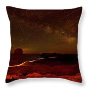 Headlights And Buttes In Monument Throw Pillow