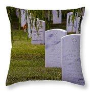 Headstones Of Arlington Cemetery Throw Pillow