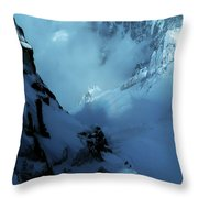 Headwall Mount Blanc Throw Pillow