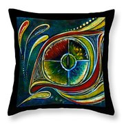 Healer Spirit Eye Throw Pillow